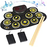 Electronic Drum Set Electronic Roll Up Practice Drum PadPortable Drum Kit with...
