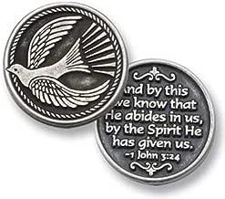 SIX (6) HOLY SPIRIT - Dove - Pewter POCKET Tokens JOHN 3:24 - HE Abides in Us - 1