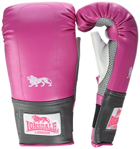 Lonsdale Damen Pro Bag Tasche-handschuh, rosa/Grau, L/XL