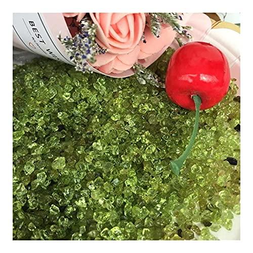 CAIZHI Muebles para el hogar 200G Hermoso Mineral Natural Olivine Crystal Gemstone Meditación Reiki Healing Peridot Piedra de Cristal para la decoración del hogar