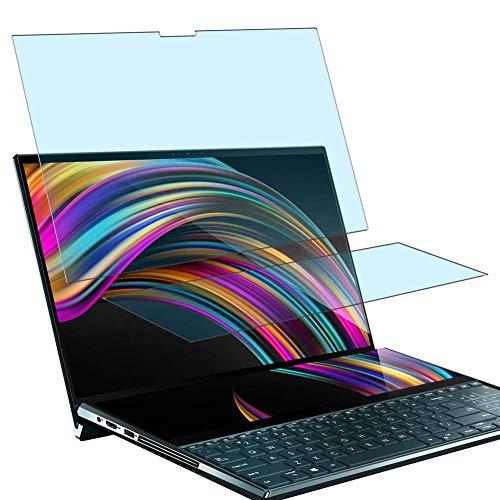 """Vaxson - Pellicola protettiva anti-luce blu, 4 pezzi, compatibile con ASUS ZenBook Pro Duo UX581LV 15,6"""", protezione schermo [non in vetro temperato] Anti Blue Light"""
