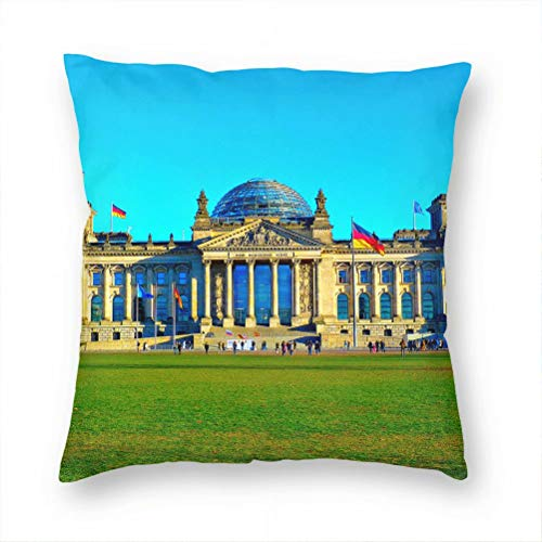 Germany Reichstag Building Berlin Pillow Case Decorative Cushion Cover Pillowcase Sofa Chair Bed Car Living Room Bedroom Office 18'x 18' KXR-2530
