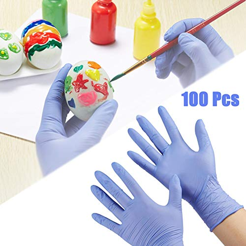 Guantes desechables Brainstm para niños, de nitrilo para 4-12 años, guantes de protección de grado alimenticio, para manualidades, pintura, jardinería, cocina, limpieza (S 100 unidades)