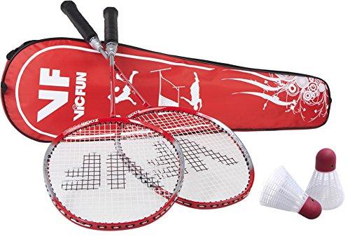 VICFUN Hobby Badminton Set Premium - Rot