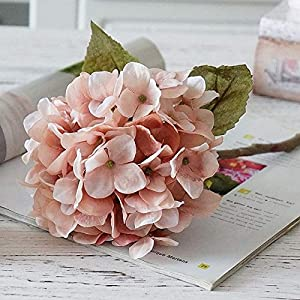 1 Bundle Silk Hydrangea Autumn Vases For Home Decor Christmas Decorative Flower Wedding Wall Set Artificial Flowers Cheap,1