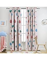 ستائر / ستائر لغرفة الأطفال مطبوع عليها Milodieux Cartoon Trees Room Darkening Rod Pocket Curtain/ستائر لغرفة الأطفال، مقاس 132.08 سم Wx84 طول (لوحة واحدة)
