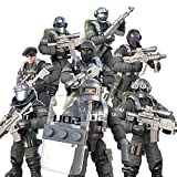 DRAKE18 8 en 1 Figura de acción de los Soldados de Juguete Figuras Militares del Ejército de Combate de Las Fuerzas Especiales Juguetes para los Regalos educativos con Las Armas y Accesorios