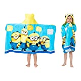 Franco - HH4848 Kids Bath and Beach Soft Cotton Terry Hooded Towel Wrap, 24' x 50', Despicable Me Minions