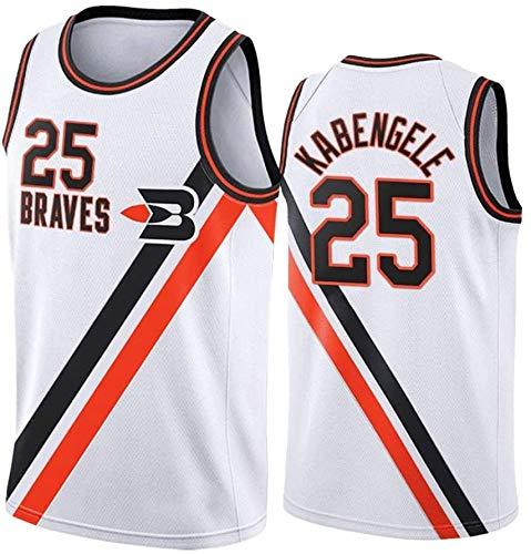 XIAOHAI Hombres Camisetas de la NBA Los Angeles Clippers # 25 Mfiondu Kabengele Transpirable Resistente al Desgaste Malla Bordado Baloncesto del Swingman de los Jerseys,XXL