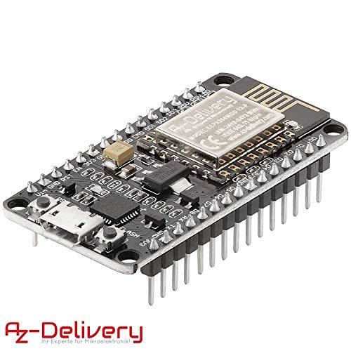 AZDelivery Modulo WiFi NodeMCU Lua Amica V2 ESP8266 ESP-12F WiFi Placa de Desarrollo con CP2102 para Arduino con E-book incluido!