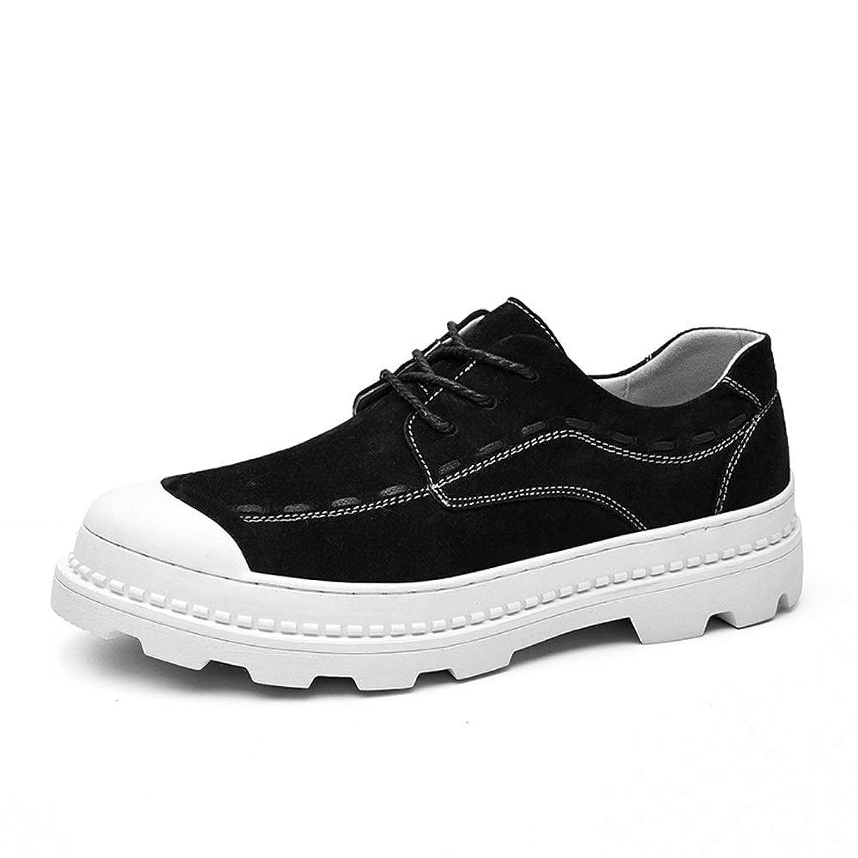 男士革靴 人のスポーツの靴のための運動靴はPUの革ライト適用範囲が広くそして簡単をひもで締めます 個性な (Color : ブラック, サイズ : 24 CM)