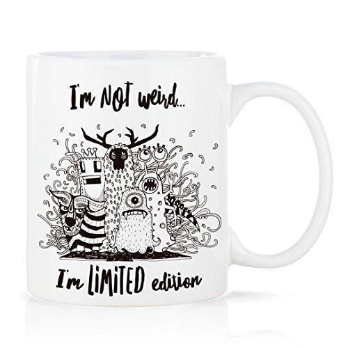 Voodoo Island Tasse mug Petit-déjeuner de Porcelaine Blanche 30 cl. avec Message modèle Limited Edition