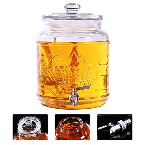 Melksap koude drank Dispenser met metalen spigot verdikte deksel hars base gemakkelijk schoon te maken voor citroen/thee/koud water ~
