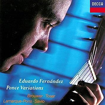 "Ponce: Variations & Fugue On ""La Folia"" / Brouwer: The Black Decameron / Lamarque-Pons: Sonatina etc"