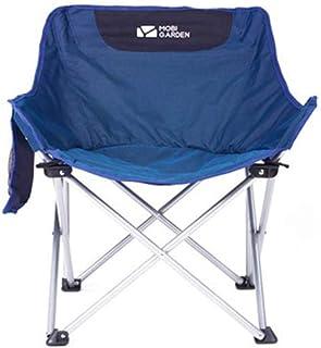 ベーシック 椅子 折りたたみ ゼログラビティーチェア インフィニティチェア ポータブルキャンプチェア、キャリーバッグサイドポーチ付き軽量バックパッキング椅子屋外のピクニックビーチ66 * 54 * 38センチメートル用 (Color : Blue)