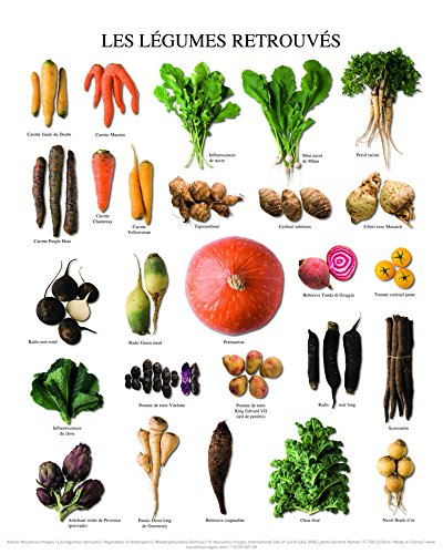 Nouvelles Images Póster 24x 30cm Las Verduras retrouvés/Vegetables of Yesteryears/wiedergefundene Gemüse Atelier