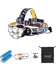 TODAK1877 LEDヘッドライト usb充電式 8点灯モード 18650電池 防災 作業 登山  防水ヘッドランプ 釣り