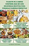 Paquete De 4 Libros Contiene Más De 1400 Deliciosas Recetas Para...