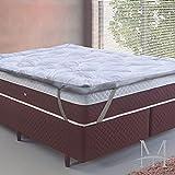 Pillow Top Toque de Plumas Queen 1,58x1,98 - Tessi - Branco