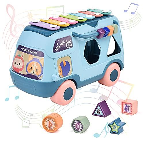 Furado 3 En 1 Xilófono De Juguete, Juguetes Educativos Incluye Xilófono, Clasificador De Formas Y Tambor, Instrumentos Musicales Juguetes Bebes 1 Año Para Niños 2 3 4 5 Años