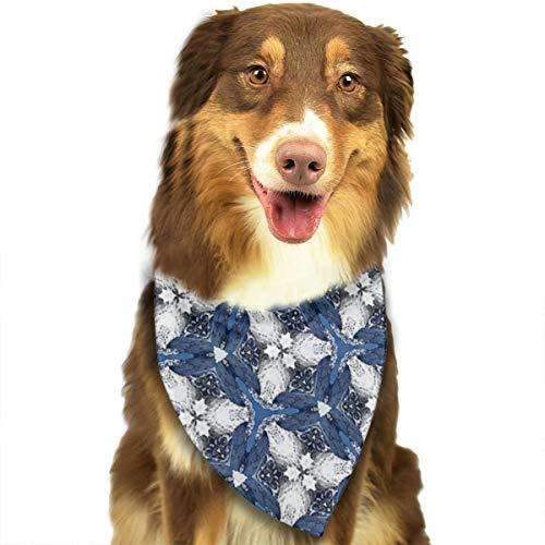 Behang Patroon Volgorde Motief Ontwerp Aangepaste Hond Kattenhalsdoek Set Geschikt voor Kleine tot Grote Hond Katten