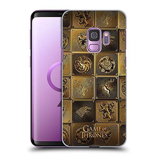 Head Case Designs Officially Licensed HBO Game of Thrones All Houses Golden Sigils Hard Back Case Compatible with Samsung Galaxy S9