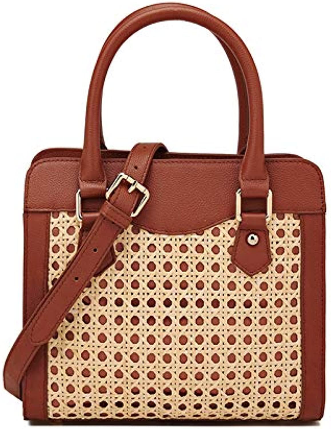 ASHIJIN Handmade Rattan Handbags Bags with Rattan Personality Fashion Fabrics. Bag New Bag
