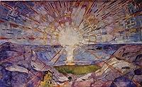 ムンク・「太陽(The Sun)」 プリキャンバス複製画・ ギャラリーラップ仕上げ(6号サイズ)