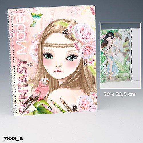 Topmodel Create Your Fantasy Model Malbuch Mit Sticker Und Malvorlagen Rosa Braun Auflage B Amazon De Spielzeug
