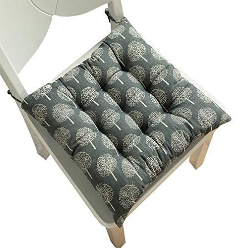 Bigood Coussin de chaise rembourré pour salle à manger, jardin, cuisine, bureau - Bleu foncé - 50 x 50 cm