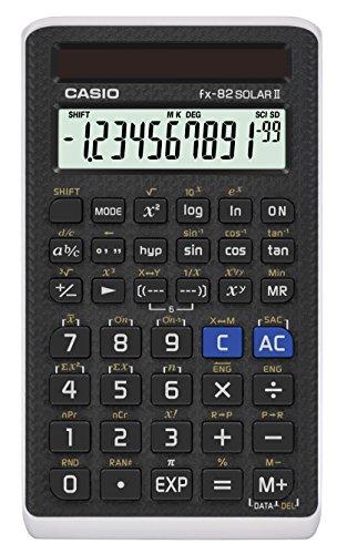 Casio FX-82Solar II - Calculadora (Bolsillo, Calculadora científica, 1 líneas, Solar, Negro)