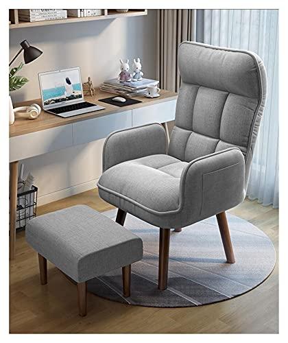 HAQTXI Sillón de Acento Plegable de 360 Grados Sillón de Acento Plegable Muebles de Sala de Estar reclinable Sofá Plegable reclinable Silla Baja (Color : Gray with Ottoman)