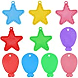 HQDeal Colorful Balloon Weights, 20 Pieces Plastic Shaped Pentagram and Shaped Fish Balloon Weights.