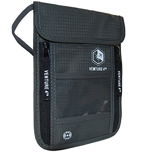 Venture 4th Travel Neck Pouch With RFID Blocking -...