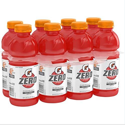 (8 Count) Gatorade G Zero Thirst Quencher, Fruit Punch, 20 fl oz