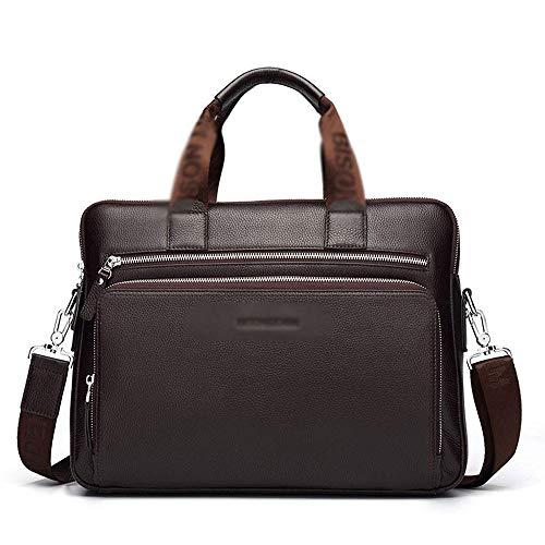 HEMFV Bolso satchel vintage hecho a mano Bolsa de mensajero for hombre Bolsa de ordenador portátil de cuero a prueba de agua Funda de maletín de 14 pulgadas Funda de hombro de cuero genuino retro vint