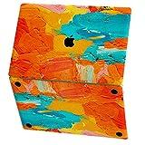Mertak Vinyl Skin for Apple MacBook Air 13 inch Mac Pro 16 15 Retina 12 11 2020 2019 2018 2017 Laptop Orange Top Abstract Wrap Paint Oil Art Strokes Keyboard Sticker Decal Cover Simple Trackpad