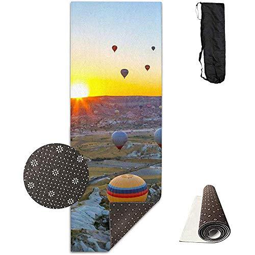 Yoga Mat Hot Air Ballonnen Hoge Dichtheid Antislip Oefening Yoga Matten 180 Cm