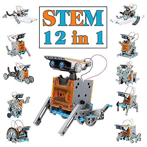 Dreamy Cubby Solar Robot STEM Toys Gift for Boy Girls 8-12 Kit Solar Robot 12 in 1Educational Learning Building Giocattoli per Bambini con Morsetti Kit scientifici