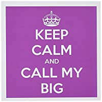 EvaDane–面白い引用–Keep Calm and Call My Big。ピンク。–グリーティングカード Set of 6 Greeting Cards
