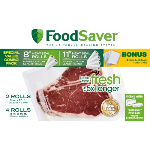 Find Bargain FoodSaver Roll Combo Pack