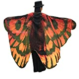 Powerfulline Butterfly Wing Beach Towel Cape Scarf Shawl for Women Christmas Halloween