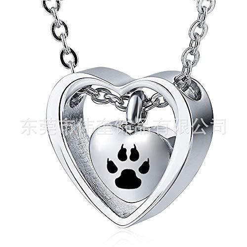 Herdenkingshaar van huisdieren blijft as ketting hartvormig te openen as hanger rouwsieraad