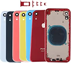 Back Rear Glass Chassis Frame for iPhone XR xr Replacement Housing Battery Door,Red