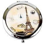 Señoras de la torre Eiffel inspirado lupa tocador Make Up Bolsa de bolsillo espejos Marrón Style 13 Talla única