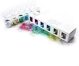 Superstar Biodegradable Loose Chunky Glitter Mix - 6 Pack, Cosmetic Grade, Ecofriendly Glitter for Face, Body, Hair