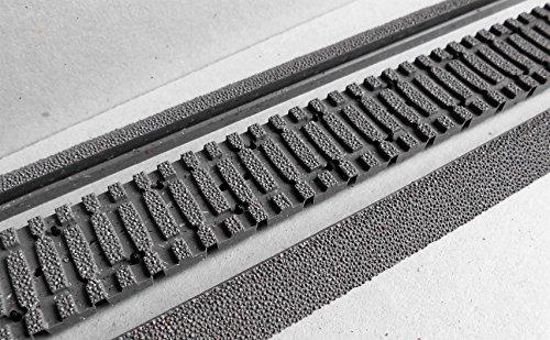Bettung Flexgleis Beton, für Roco Betonschwellen-Flexgleis, bestehend aus 4 Stück (24cm)flexibles Gleisbett mit darunterliegendem Bettungsrost und 6 Stücke (36cm) Böschungsschräge, Spur H0, Roco RocoLine 42661