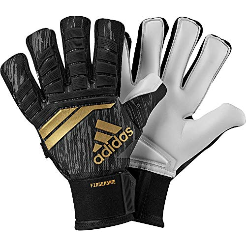 adidas Erwachsene ACE18 Fingersave Pro Torwarthandschuhe, Black/Solar red/Copper Gold/White, 11