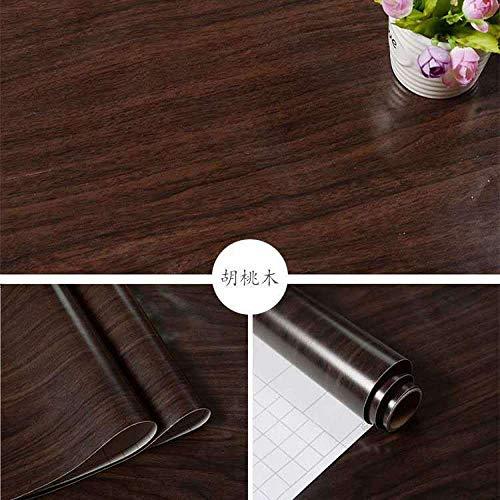 lsaiyy 3D Holzmaserung Möbel Wandaufkleber auf der Holzfarbe Tapete Tür Hause Selbstklebende Tapete Tapete-60CMX5M