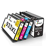 932XL 933XL Cartuchos de Tinta, 7Magic Compatible HP 932xl 933xl Ink Cartridges, High Yield, Multicpack with Black Cyan Magenta Yellow, para HP OfficeJet 6100 6600 6700 7110 7612 7610 (Paquete de 4)